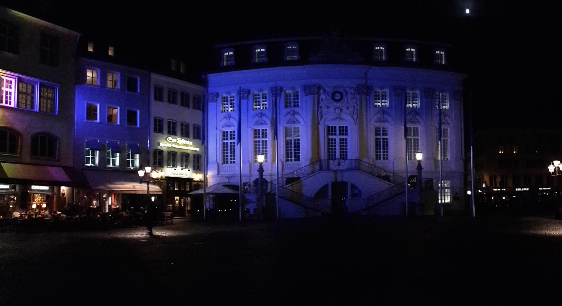 Bonn Buildings Will Be Lit up in Blue