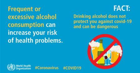 Drinking alcohol does not protect you against COVID-19